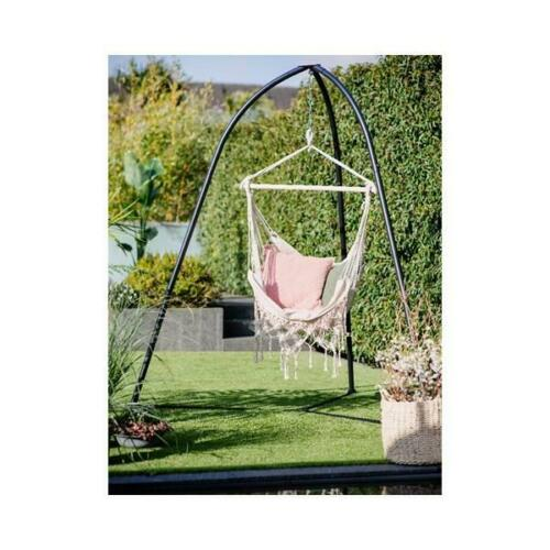 Portable Garden Patio Hanging Rope, Outdoor Swing Chair With Stand Uk