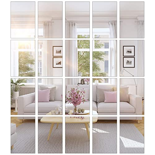 Bbto 20 Pieces Mirror Sheets Self, What Adhesive To Use For Mirror Tiles